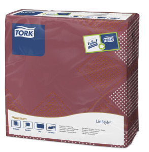 Tork Premium Textile Feel Retro Oxford Dinner Napkin