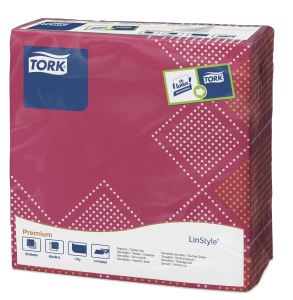 Tork Premium Textile Feel Sweet Oxford Dinner -lautasliina
