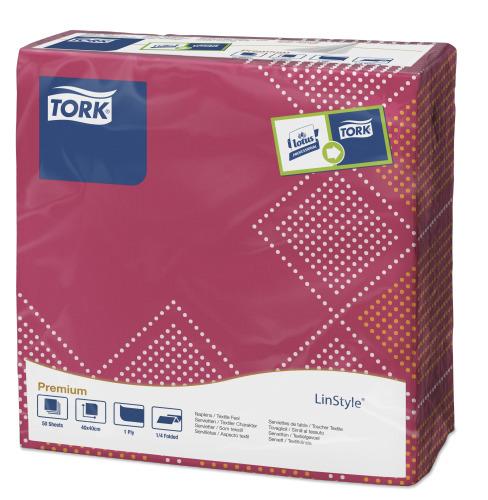 Tork Premium Textile Feel Sweet Oxford Dinner -lautasliina