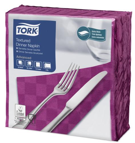 Tork Textured Purple Dinner Napkin