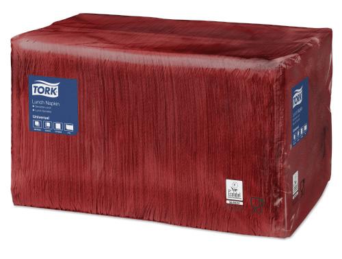 Tork bordo crvena salveta za ručak 1-slojna
