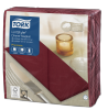 Tork Premium Linstyle® Serviette Dinner, Bordeaux pliage 1/8