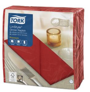 Tork Premium Linstyle® Serviette Dinner,Coquelicot pliage 1/8