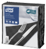 Tork Textured Black Dinner Napkin