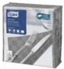 Tork Textured Grey Dinner Napkin