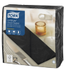 Tork Premium Linstyle® Black Dinner Napkin 1/8 Folded