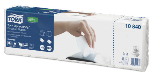 Tork Xpressnap® White Dispenser Napkin