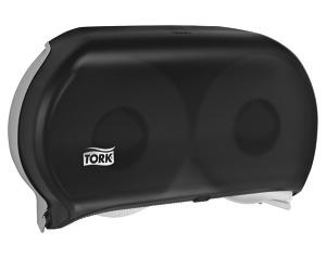 Tork Twin Jumbo Bath Tissue Roll Dispenser, 9 inch Single
