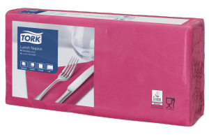 Tork Bright Pink Lunch Napkin