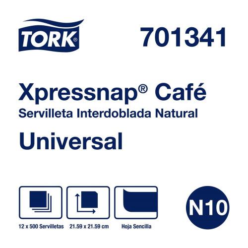 Tork Xpressnap Café®  Servilleta Kraft 12 pq / 500 pz