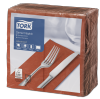 Tork Terracotta Dinner Napkin 1/8 Folded