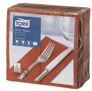 """Tork"" minkštos terakotos spalvos vakarienės servetėlės"
