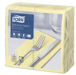 Tork Soft Champagne Dinner Napkin 1/8 Folded