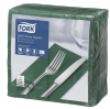 Tork Soft Dark Green Dinner Napkin 1/8 Folded