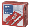 Tork Soft Red Dinner Napkin 1/8 Folded