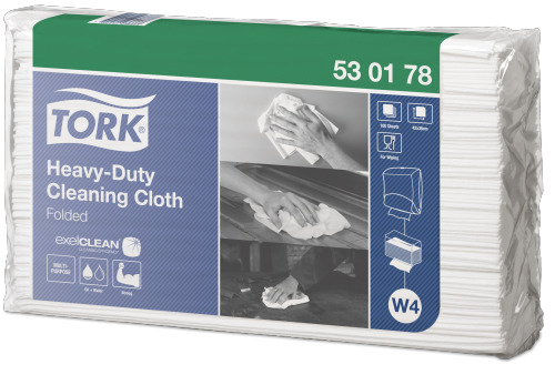 Tork®  Heavy-Duty Cleaning Cloth Folded
