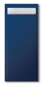 Tork Dark Blue Cutlery Bag With White Napkin