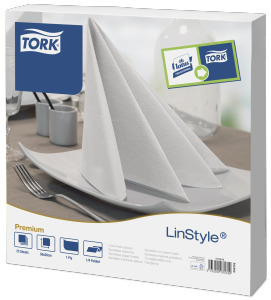 Tork®  LinStyle White Extra Large  Dinner Napkin