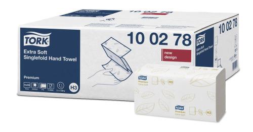 Tork Extra Soft Singlefold Håndklædeark, H3