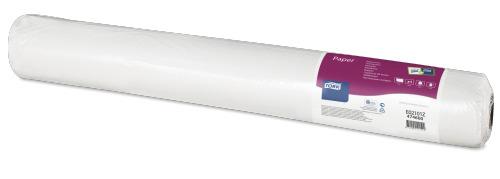Tork biały tłoczony papierowy obrus wroli