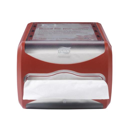 Tork Servilletero Xpressnap® Counter Rojo 1 pza