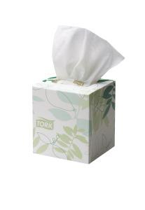 Tork®  Extra Soft Facial Tissue Cube