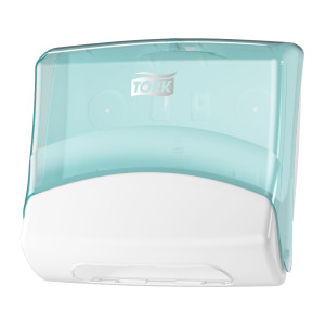 Tork Folded Wiper/Cloth Dispenser White/Turquoise