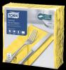 """""""Tork"""" geltonos spalvos vakarienės servetėlės su išikiliuoju raštu"""