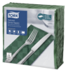 Tork Textured Dark Green Dinner Napkin 1/8 Folded