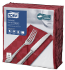 Tork Textured Bordeaux Red Dinner Napkin 1/8 Folded