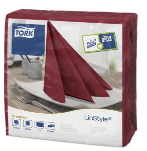 Tork Premium Linstyle® burgundy servítky – večera