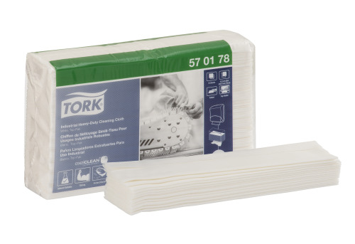 Tork Industrial Heavy-Duty Cleaning Cloth, Top-Pak
