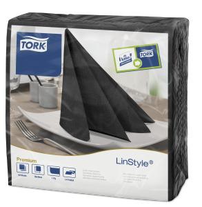 Tork®  Linstyle Quaterfold Black Dinner Napkin