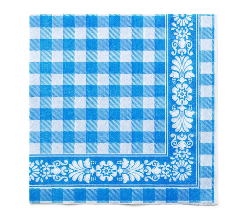 Tork Blue Check Lunch Napkin 1P