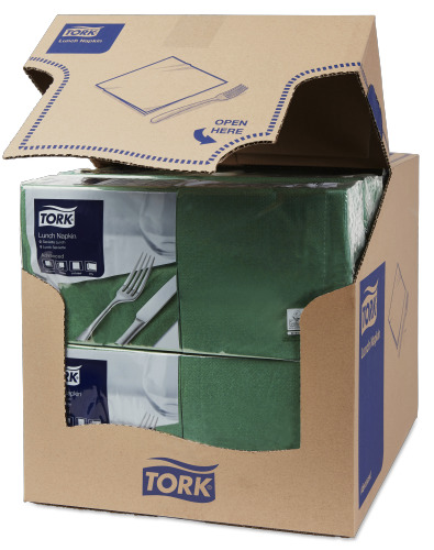 Tork Dark Green Lunch Napkin