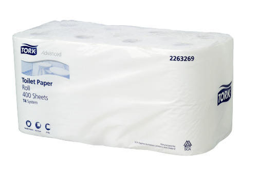 Tork®  Soft Conventional Toilet Roll 400sh 16pk Advanced