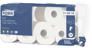 Tork Soft Conventional Toilet Roll Premium 3-ply