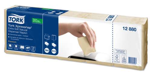 Tork Xpressnap® Extra Soft Natural Dispenser Napkin