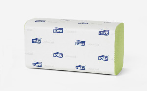 Tork Advanced Hand Towel Zigzag Fold Green H3