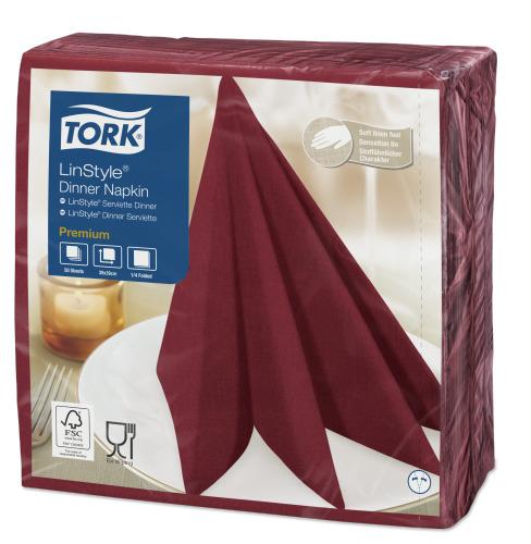Tork Linstyle® bordó Dinner szalvéta