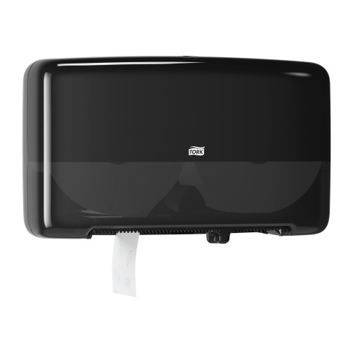 Tork Twin Mini Jumbo Toilet Roll Dispenser Black
