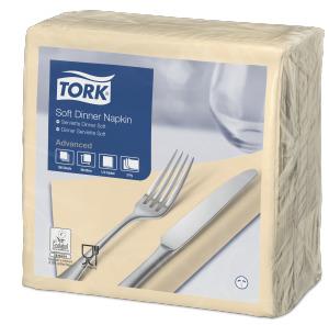 Tork Tovagliolo Dinner Soft crema