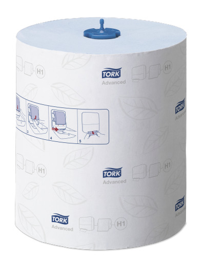 Toalla de mano en rollo Tork Matic® Advanced azul