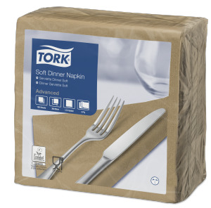 Tork Soft Dinner -lautasliina hiekka
