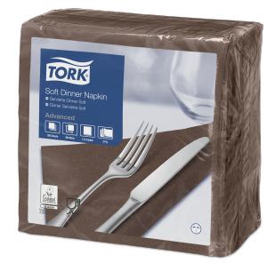 Tork Tovagliolo Dinner Soft marrone