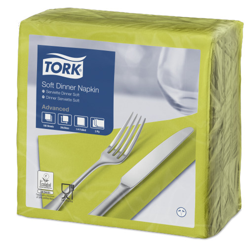Tork Soft Lime Dinner Napkin