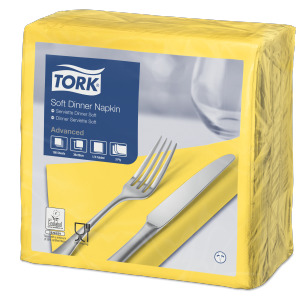 Tork Soft Yellow Dinner Napkin
