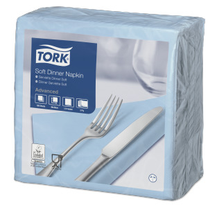 Tork Soft Light Blue Dinner Napkin
