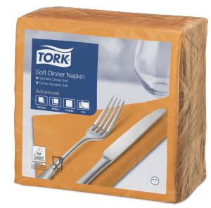 Tork Soft Orange Dinner Napkin