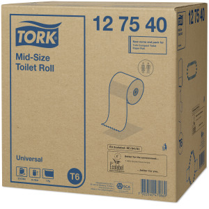 Tork Mid-size Toalettpappersrulle Universal – 1 lager